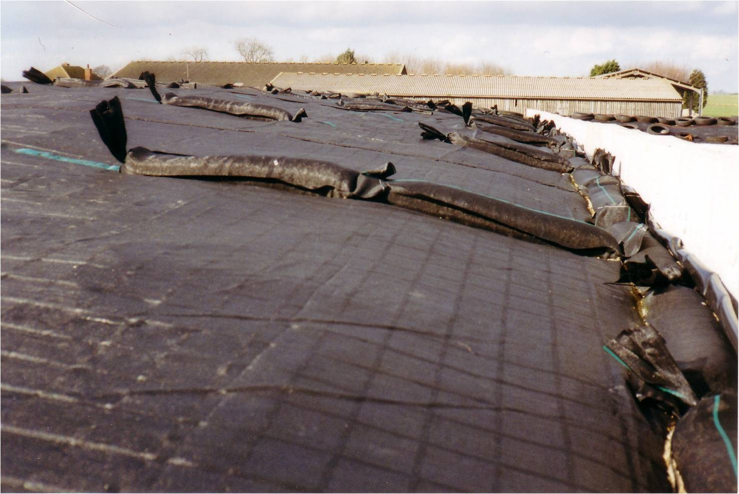 Gravel Bags used for Securing