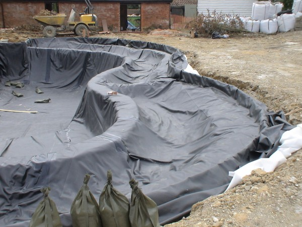 Pond liner protection protective matting for pond edging for Ornamental pond liners