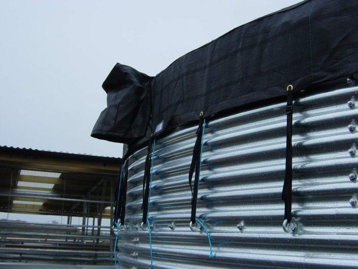 Ladder Straps & Access Flap on Water Storage Tank Cover