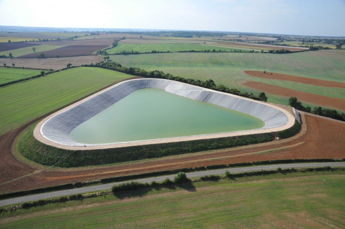 Reservoir constructed using Firestone 1.14mm Geomembrane