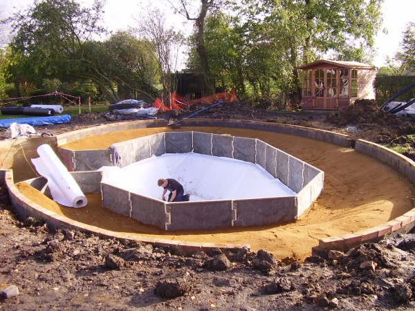 Liner protection stephens liners for Pond liner installation