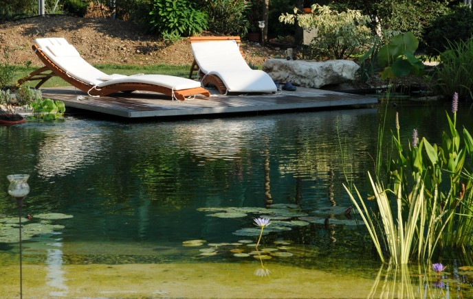 Swimming Pond Liner Installation By Stephens Industries