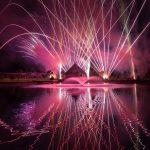 Fireworks over Firestone Geogard Pond